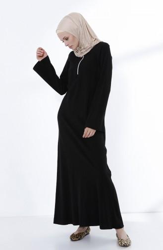 Black İslamitische Jurk 5044-09