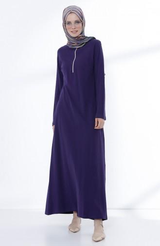 Zippered Knit Dress 5044-08 Purple 5044-08