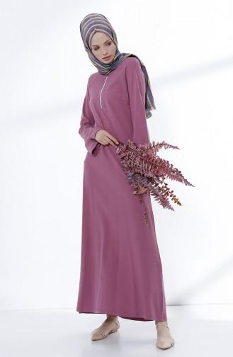 Kleid mit Reissverschluss  5044-07 Puder Rosa 5044-07