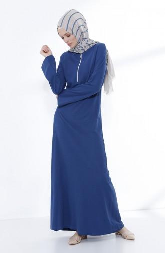 Zippered Knitted Dress 5044-01 Indigo 5044-01