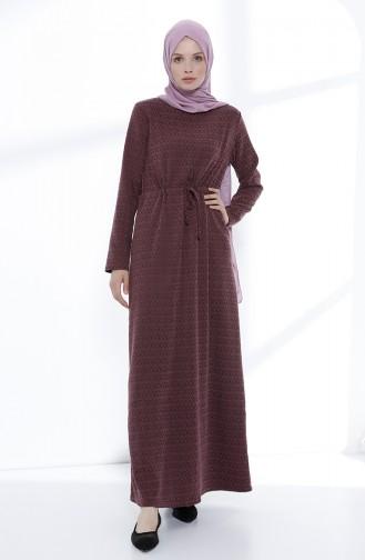 Ruched Waist Dress 5045-01 Damson 5045-01