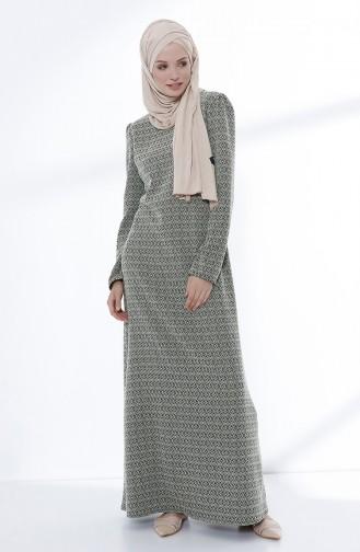 فستان أخضر حشيشي 5033-01