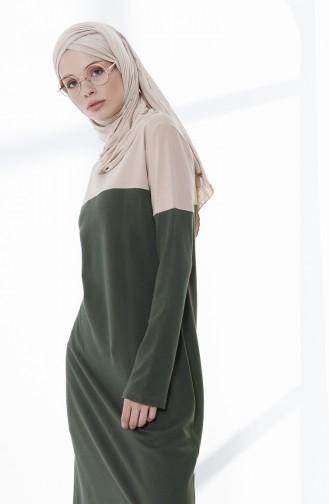 فستان كاكي 5035-04