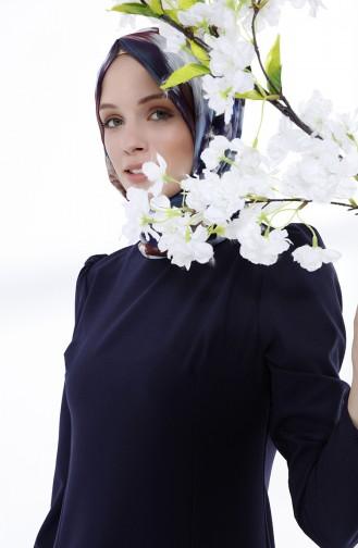Dunkelblau Hijap Kleider 9041-01