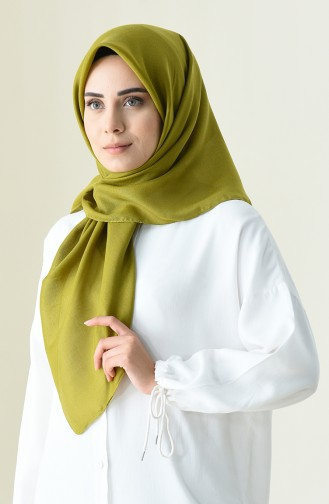 Baumwollheller quadratischer Schal 13101-04 Henna-grün 13101-04