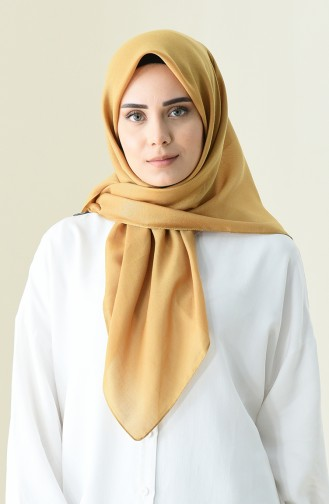 Cottony Bright Square Scarf Mustard color 13101-07