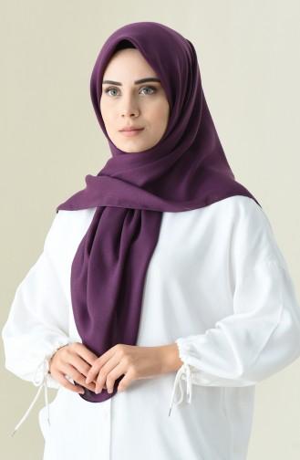 Alisya Pamuksu Kare Eşarp 13105-06 Koyu Mor 13105-06