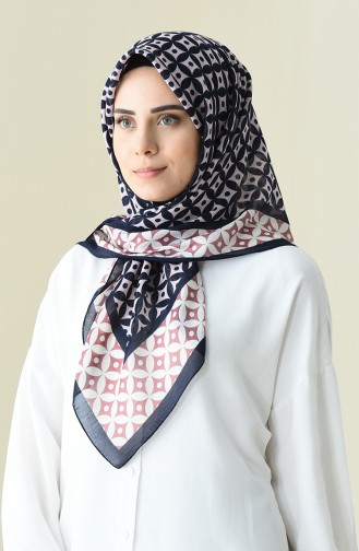 Powder color Patterned Cotton Scarf 901528-09