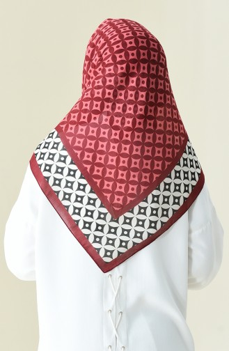Burgundy Patterned Cotton Scarf 901528-13