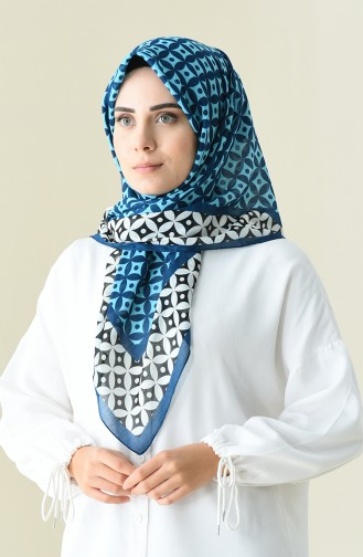 Oily color patterned cotton scarf 901528-15