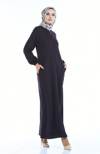 Abaya mit Gumm 6666A-03 Lila 6666A-03