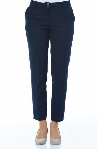 Pantalon avec Poches 5176-02 Bleu Marine 5176-02