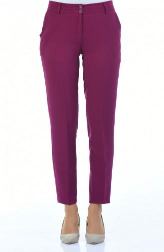 Geradehose mit Tasche 5176-03 Violett 5176-03