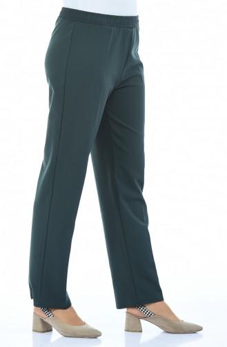Beli Lastikli Pantolon 2112-03 Yeşil