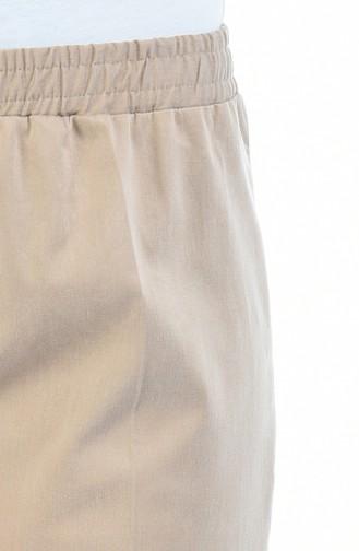 Beli Lastikli Pantolon 2114-03 Vizon