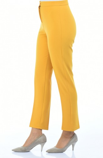 Pantalon a Boutons 1102-23 Moutarde 1102-23