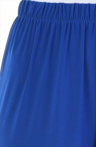 بنطال لون أزرق مطاط غير مبطن 2200-06