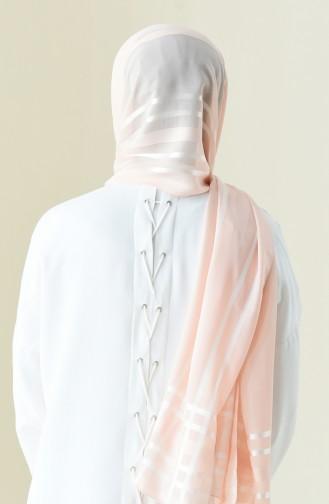 Abendkleid Chiffon Schal 13100-03 Lachs 13100-03