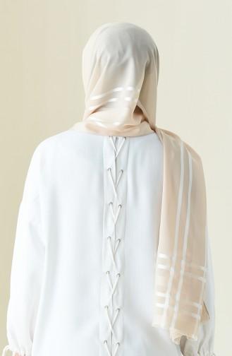 Abendkleid Chiffon Schal 13100-09 Beige 13100-09