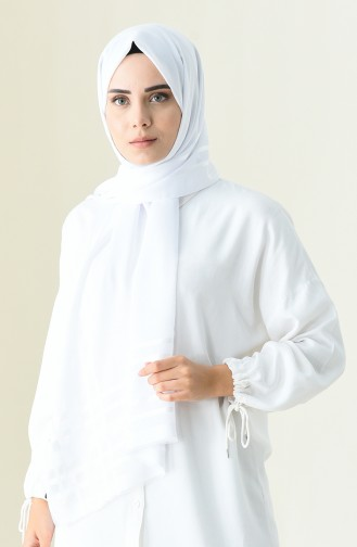 Abendkleid Chiffon Schal 13100-10 Weiss 13100-10
