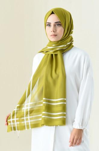 Abendkleid Chiffon Schal 13100-13 Ölgrün 13100-13