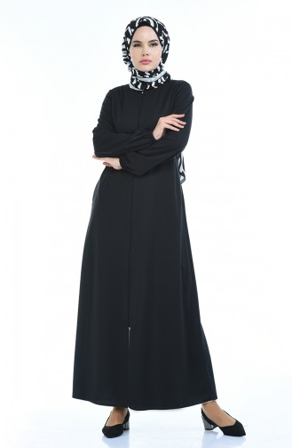 Black Abaya 6666A-04