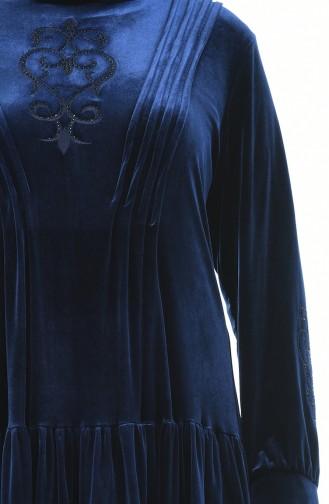 فستان أزرق كحلي 7965-02