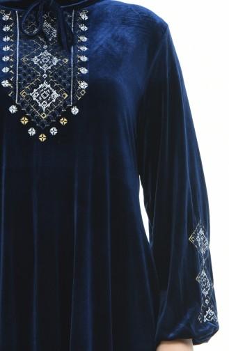 فستان أزرق كحلي 7968-01