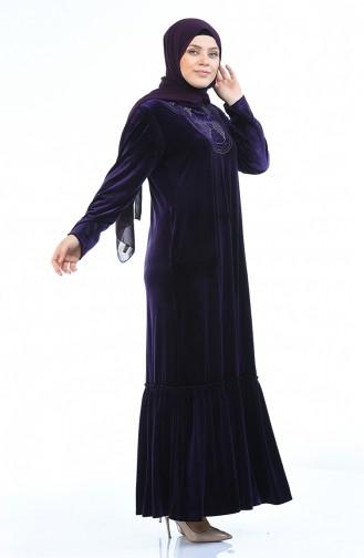 Lila Hijap Kleider 7969-05