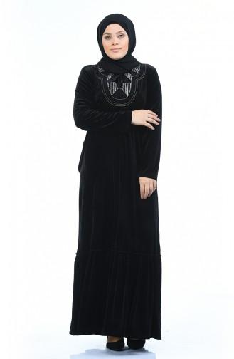 Schwarz Hijap Kleider 7969-06