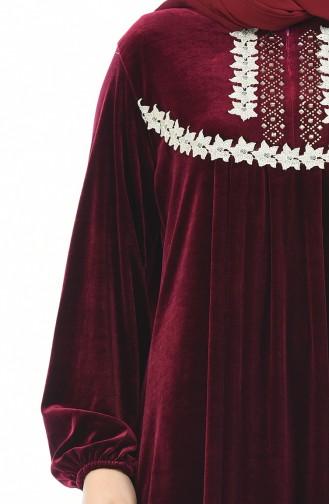 فستان أحمر كلاريت 7970-06