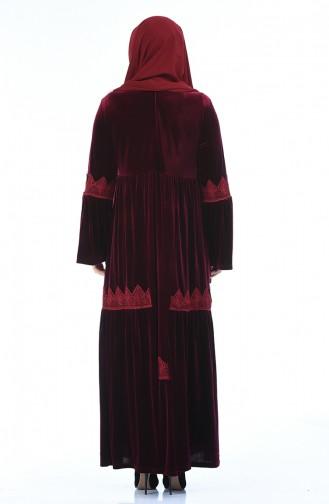 فستان أحمر كلاريت 7986-03