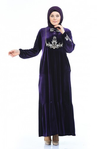 Purple İslamitische Jurk 7987-03