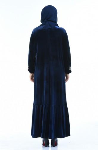 Dunkelblau Hijap Kleider 7987-06