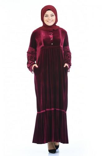 فستان أحمر كلاريت 7988-01