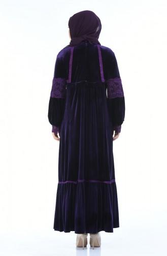 Lila Hijap Kleider 7988-04