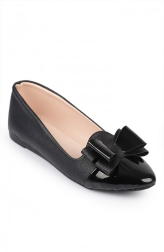 Black Women´s Flat Shoes 6613-3