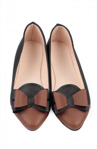 Dame Ballerina 6615-5 Schwarz Tabak 6615-5