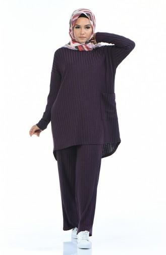 Purple Sport suit with pockets 2742-03