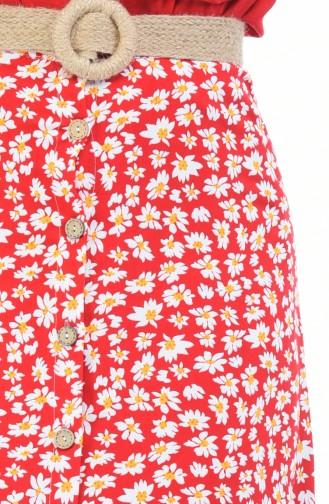 تنورة أحمر 5319C-01