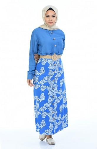 Dark Blue Skirt 5319F-01