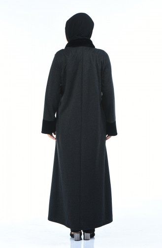 Abaya a Fourrure Grande Taille 7980-05 Antracite 7980-05