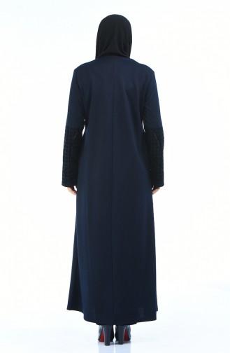 Navy Blue Abaya 7998-05