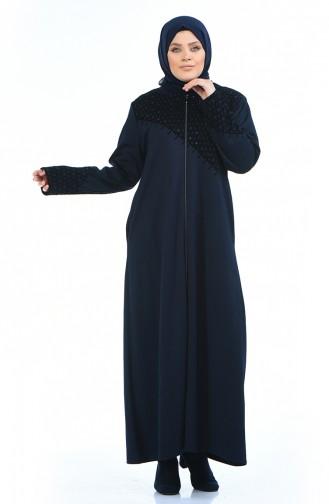 Dunkelblau Abayas 8001-06