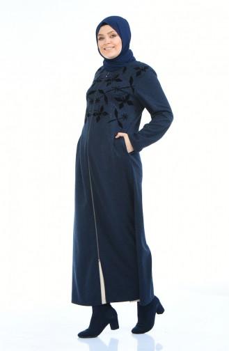 Navy Blue Abaya 8002-03