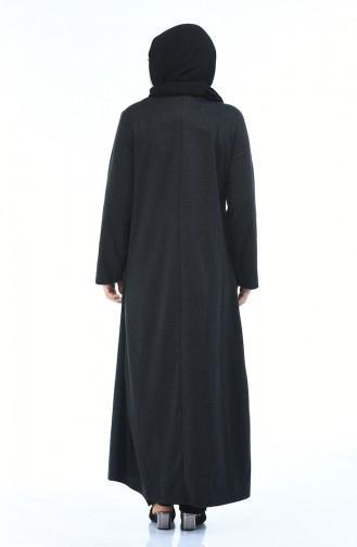 Anthrazit Abayas 8002-04