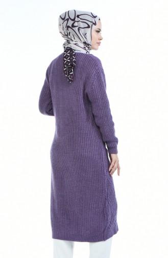 Gilet Tricot avec Poches 1916-03 Violet 1916-03