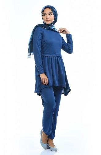 Tunik Pantolon İkili Takım 2253-05 İndigo