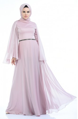 Puder Hijab-Abendkleider 1501-01