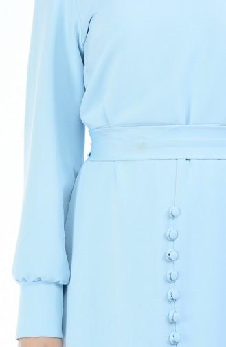 فستان أزرق فاتح 2694-04